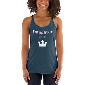 Daughter of the King Women's Racerback Tank-Tank Top-PureDesignTees
