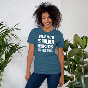 Silence is Golden Short-Sleeve Unisex T-Shirt-T-SHIRT-PureDesignTees