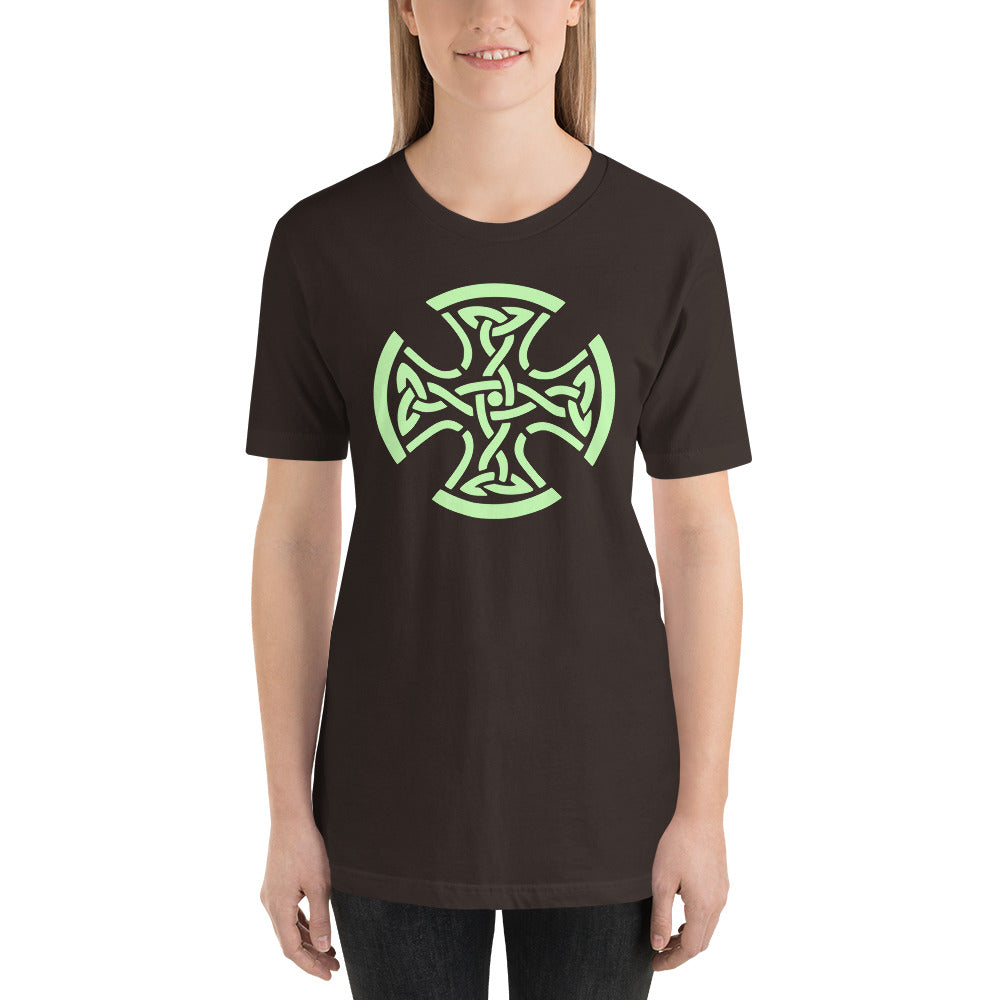 Celtic Cross Short-Sleeve Unisex T-Shirt, T-shirt - PureDesignTees