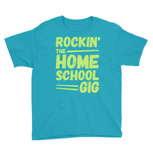 Load image into Gallery viewer, Rockin' the Homeschool Gig Youth Short Sleeve T-Shirt-T-Shirt-PureDesignTees