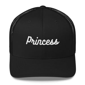 Princess Embroidered Trucker Cap-Hat-PureDesignTees