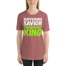 Load image into Gallery viewer, Suffering Savior Triumphant King Short-Sleeve Unisex T-Shirt-t-shirt-PureDesignTees