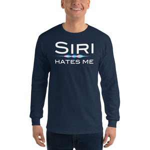 Siri Hates Me Long Sleeve T-Shirt-Long sleeve t-shirt-PureDesignTees