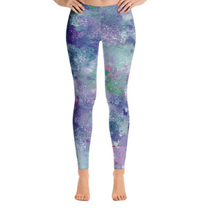 Colorful Splatter Leggings-Leggings-PureDesignTees
