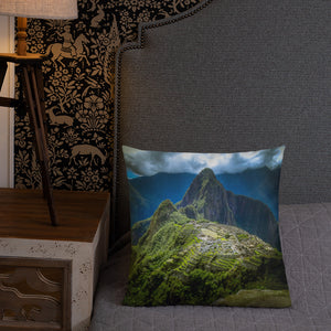 Machu Picchu Premium Throw Pillow-Premium Throw Pillow-PureDesignTees