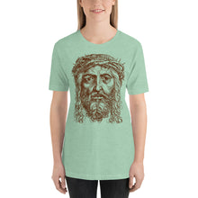 Load image into Gallery viewer, Jesus Portrait with Crown of Thorns Short-Sleeve Unisex T-Shirt, T-Shirt - PureDesignTees
