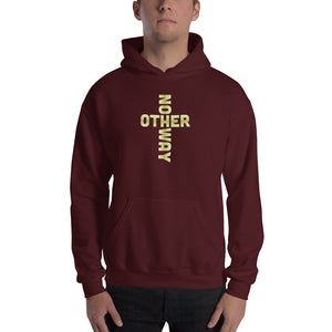 No Other Way Cross Hooded Sweatshirt-Hoodie-PureDesignTees