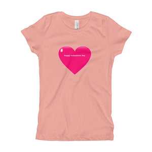Happy Valentine's Day Girl's T-Shirt-T-Shirt-PureDesignTees