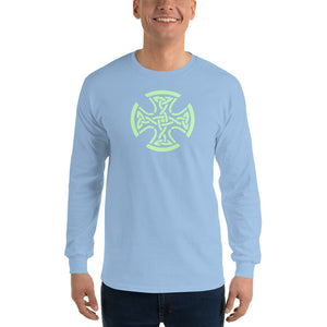 Celtic Cross Long Sleeve T-Shirt-Long sleeve t-shirt-PureDesignTees
