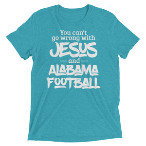 You Can't Go Wrong with Jesus and Alabama Short sleeve t-shirt-T-Shirt-PureDesignTees