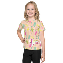 Load image into Gallery viewer, Ice Cream Yum! Kids All Over Print T-Shirt-kids all over print t-shirt-PureDesignTees