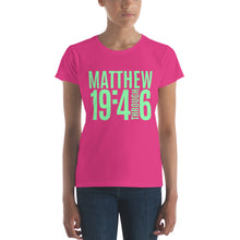 Load image into Gallery viewer, Matthew 19 Women's short sleeve t-shirt, T-Shirt - PureDesignTees