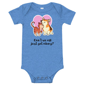 Can't We All Just Get Along? Infant Bodysuit-infant bodysuit-PureDesignTees