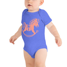Load image into Gallery viewer, Rocking Horse Baby Bodysuit-Baby Bodysuit-PureDesignTees