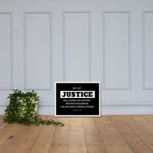 Load image into Gallery viewer, Let Justice Roll Down Framed poster-wall art-PureDesignTees
