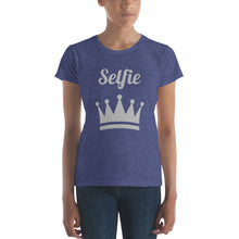 Load image into Gallery viewer, Selfie Crown Women's short sleeve t-shirt-t-shirt-PureDesignTees