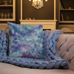 Colorful Splatter Premium Pillow-Throw Pillow-PureDesignTees