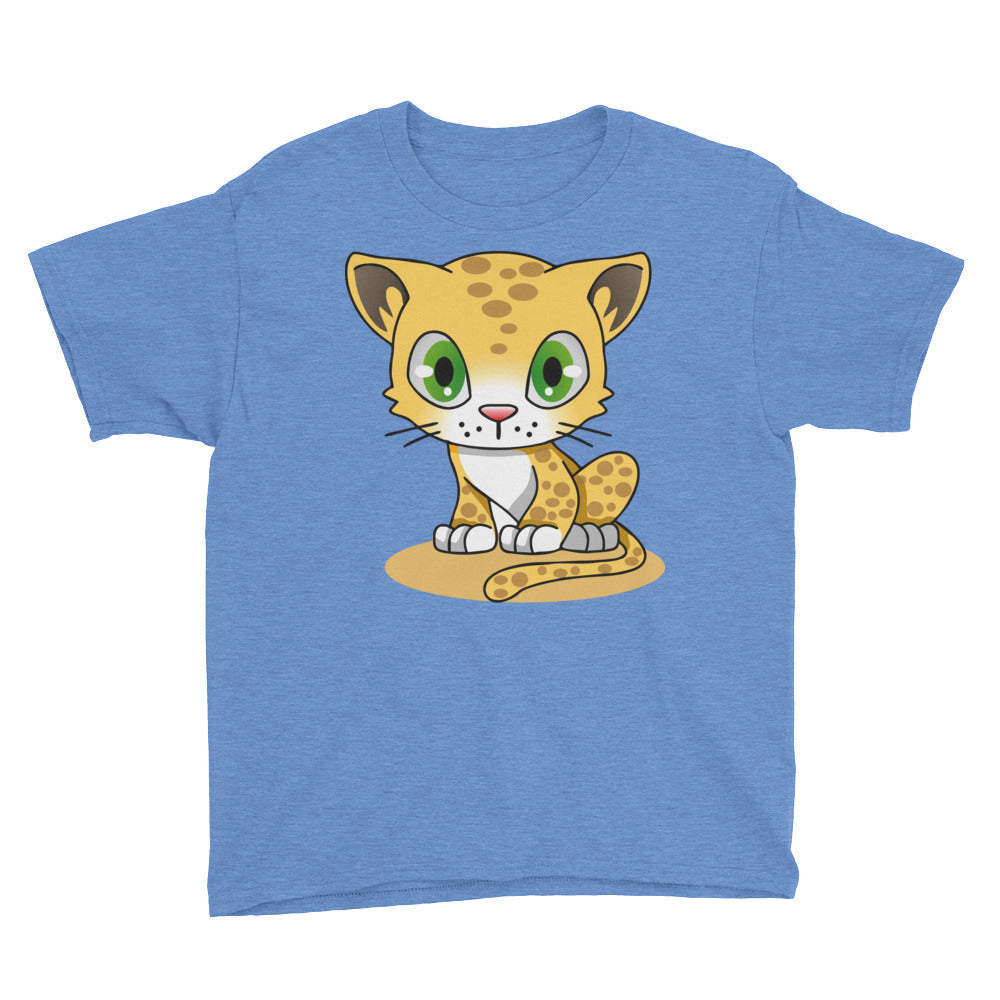 Cute Leopard Cub Youth Short Sleeve T-Shirt, T-shirt - PureDesignTees