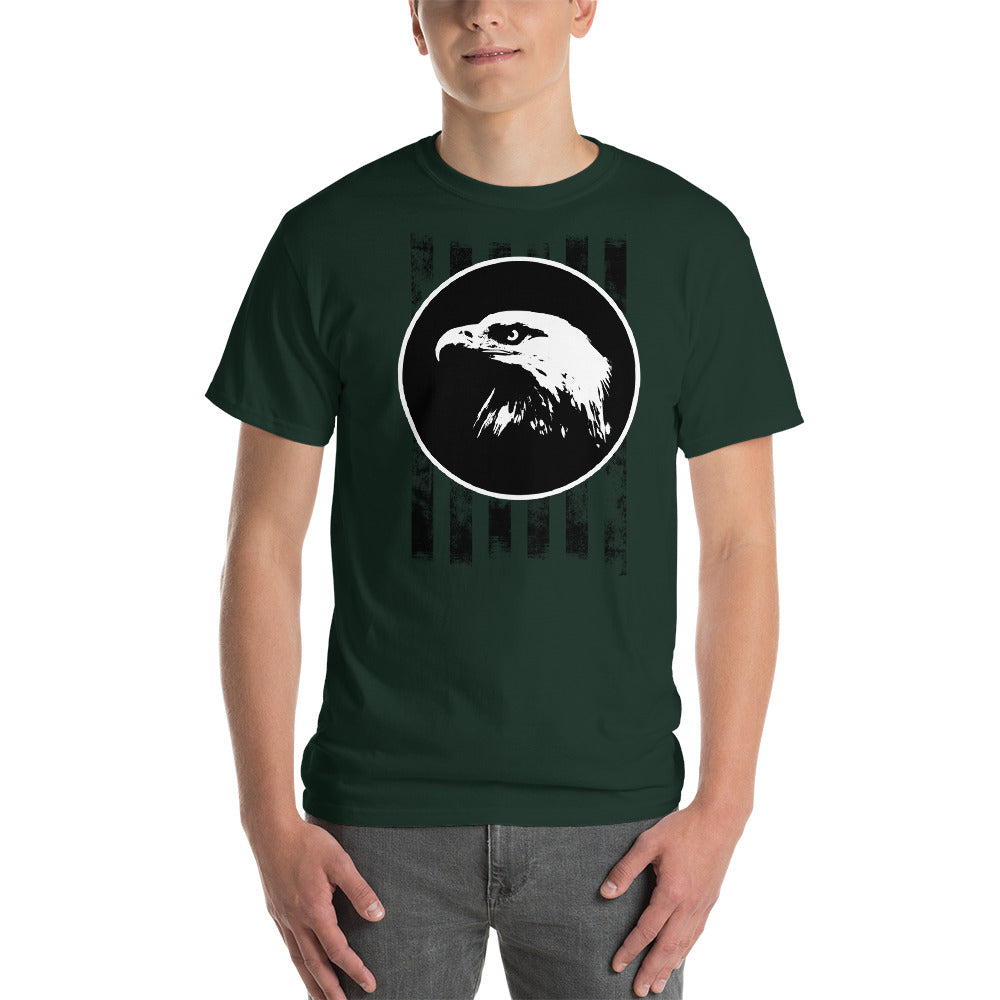 Bald Eagle with Stripes Short-Sleeve T-Shirt-T-shirt-PureDesignTees