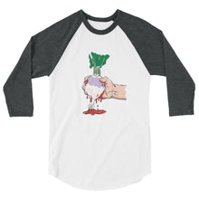Load image into Gallery viewer, Squeezing Blood from a Turnip 3/4 sleeve raglan shirt-T-Shirt-PureDesignTees