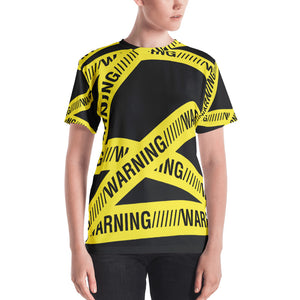Warning Tape Women's T-shirt-t-shirt-PureDesignTees