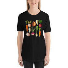 Load image into Gallery viewer, Watercolor Vegetables Short-Sleeve Unisex T-Shirt-t-shirt-PureDesignTees