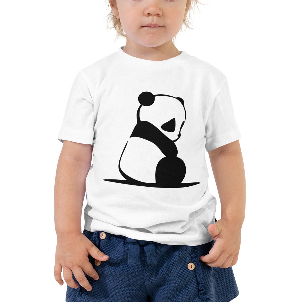Cute Panda Toddler Short Sleeve Tee-Toddler T-shirt-PureDesignTees