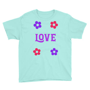 Love Youth Short Sleeve T-Shirt for girls-T-shirt-PureDesignTees