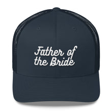Load image into Gallery viewer, Father of the Bride Trucker Cap-Hat-PureDesignTees