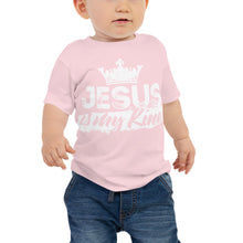 Load image into Gallery viewer, Jesus is My King Baby Jersey Short Sleeve Tee-Baby Jersey-PureDesignTees