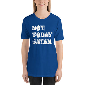 Not Today Satan. Short-Sleeve Unisex T-Shirt-T-shirt-PureDesignTees