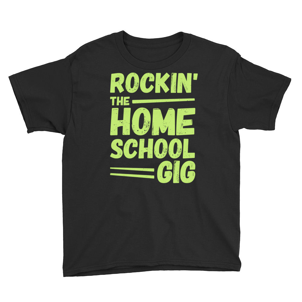 Rockin' the Homeschool Gig Youth Short Sleeve T-Shirt-T-Shirt-PureDesignTees