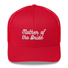 Load image into Gallery viewer, Mother of the Bride Trucker Cap-Hat-PureDesignTees