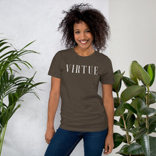 Load image into Gallery viewer, Virtue White Unisex Short Sleeve Jersey T-Shirt with Tear Away Label-t-shirt-PureDesignTees