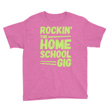 Load image into Gallery viewer, Rockin' the Homeschool Gig Youth Short Sleeve T-Shirt, T-Shirt - PureDesignTees