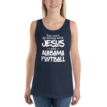 Load image into Gallery viewer, You Can't Go Wrong with Jesus and Alabama Football Unisex  Tank Top, Tank Top - PureDesignTees