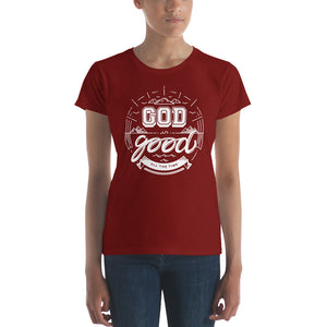 God is Good Women's short sleeve t-shirt-T-Shirt-PureDesignTees