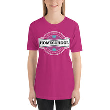 Load image into Gallery viewer, Homeschool Badge Short-Sleeve Unisex T-Shirt, T-Shirt - PureDesignTees