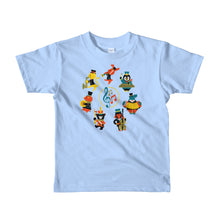 Load image into Gallery viewer, Musical Animals Short sleeve kids t-shirt, t-shirt - PureDesignTees