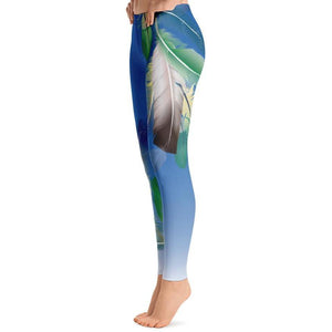 Tropical Feathers Leggings-Leggings-PureDesignTees