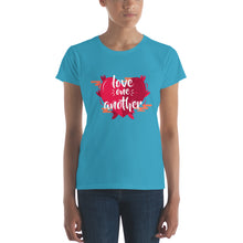 Load image into Gallery viewer, Love One Another Women's short sleeve t-shirt-T-Shirt-PureDesignTees