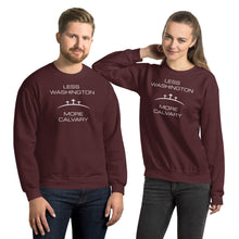 Load image into Gallery viewer, Less Washington More Calvary Unisex Sweatshirt-PureDesignTees