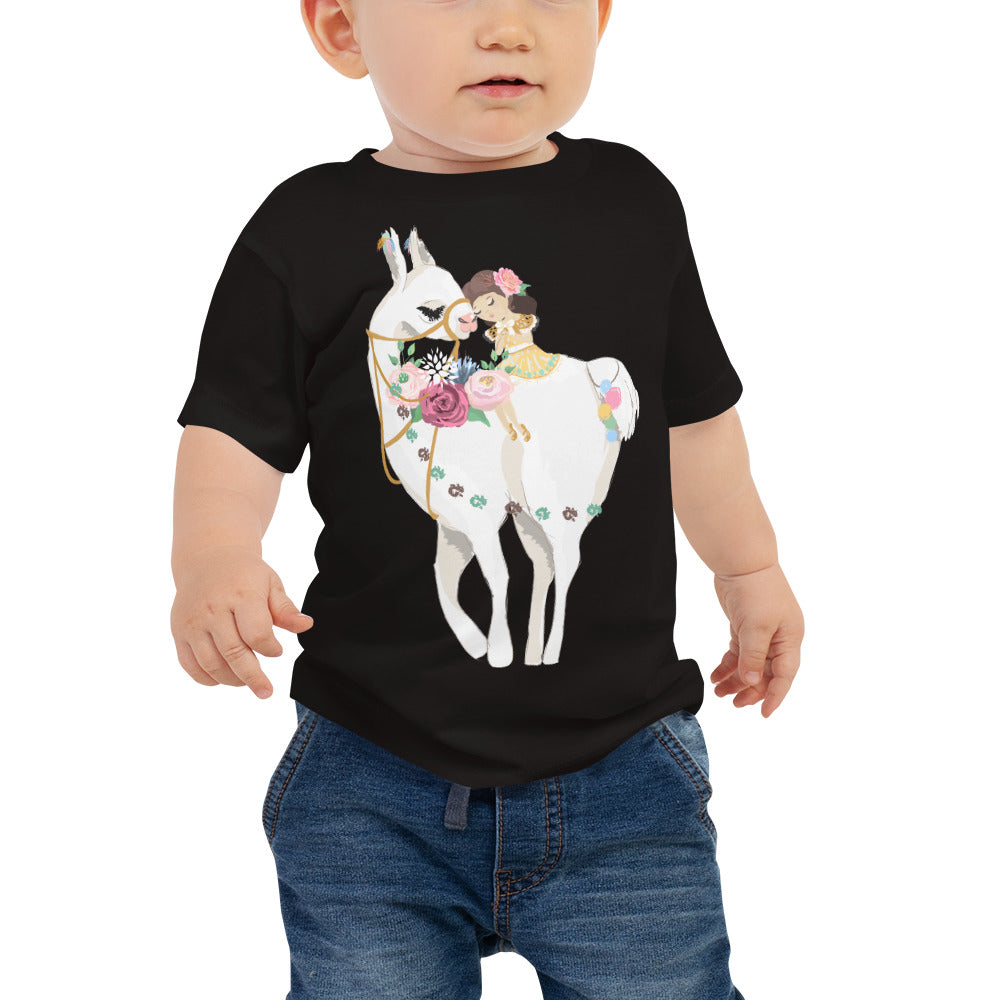 Adorable Llama Baby Jersey Short Sleeve Tee