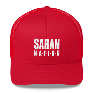 Saban Nation Embroidered Trucker Cap-hat-PureDesignTees