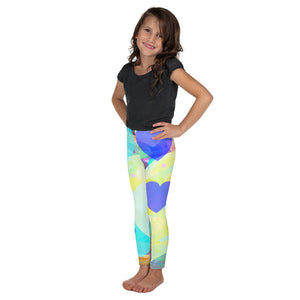 Bright Hearts All-Over Print Kids Leggings-Kid Leggings-PureDesignTees