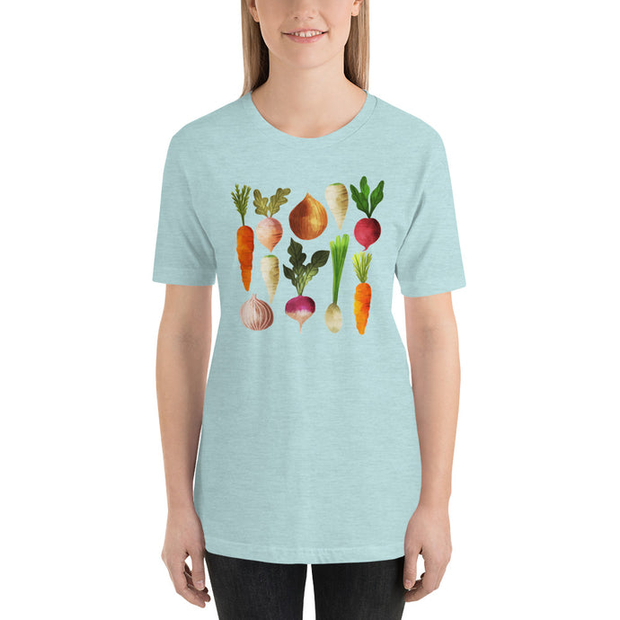 Watercolor Vegetables Short-Sleeve Unisex T-Shirt, t-shirt - PureDesignTees