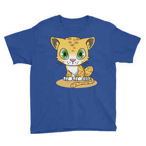 Cute Leopard Cub Youth Short Sleeve T-Shirt