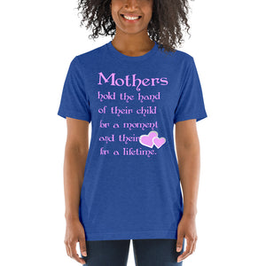 Mothers Hold the Hand Unisex Triblend Short Sleeve T-Shirt with Tear Away Label-Triblend T-shirt-PureDesignTees
