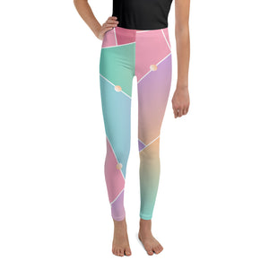 Abstract Glass Pattern Youth Leggings-youth leggings-PureDesignTees