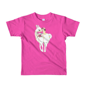 Simply Adorable Llama and Girl Short sleeve kids t-shirt-t-shirt-PureDesignTees
